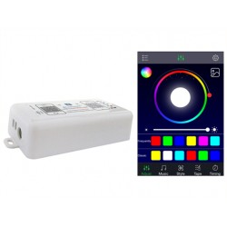 Led Dimmer Bluetooth 4.0 RGB RGBW Controller 12V 24V Per Smartphone Iphone iOS Android