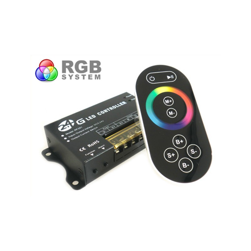 Centralina RGB 2,4G Full Color Controller RF Wireless 12V 24V 24A Per Bobina Led RF201
