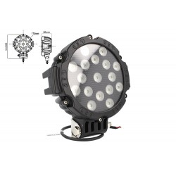 Faro Led Supplementare Profondita 12V 24V 51W Rotondo Super Luminoso Luce Beam