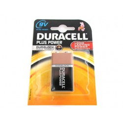 Pila Batteria Duracell Alkaline 6LR22 MN1604 Plus Power 9V Duralock