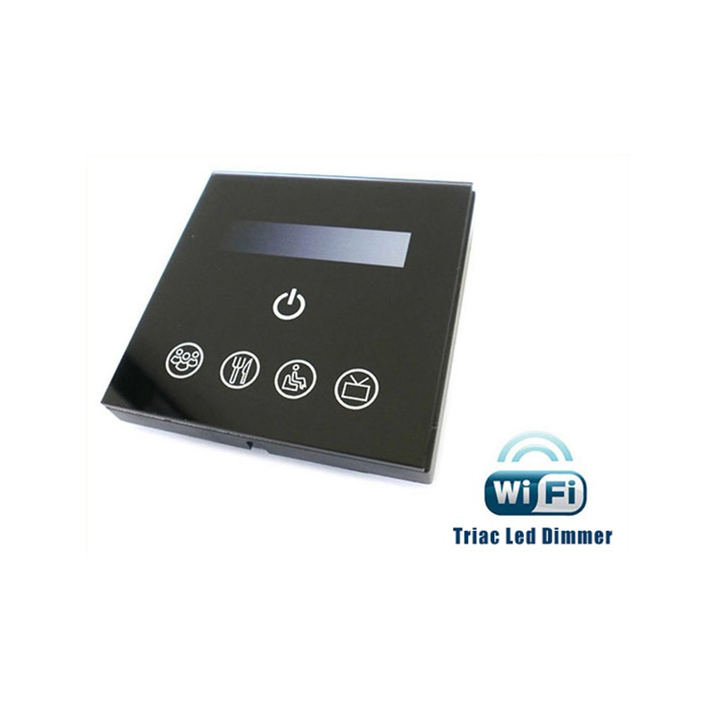 Varialuce Led Triac Dimmer SCR 220V 200W Touch Panel WiFi Interfacciabile Con Iphone Smartphone Android TM111