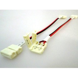 4 PZ Connettore 10mm Per Collegare Due Strip Led Smd 5050 Senza Saldare