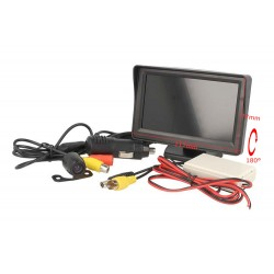 Kit Retromarcia Telecamera Portatarga Monitor 4,3'' Wireless 12V Camper Furgone